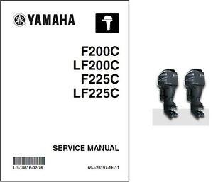 yamaha f200 lf200 f225 lf225 4 stroke outboard motor service manual rh ebay com Yamaha 200 4 Stroke Outboard Yamaha 200 4 Stroke Outboard