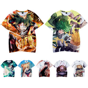 My Little Hero Acade-mia Kids T Shirt 3D Printed Short Sleeve Fashion Casual Youth Tees Shirts for Girls Boys Children