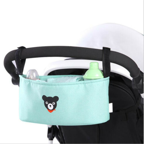 Baby Pushchair Pram Organiser Storage Bag Bottle Holder Stroller Buggy Diaper 8C