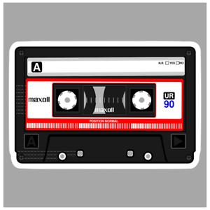 adesivo MUSICASSETTA VINTAGE   sticker decal autocollant aufkleber pegatina