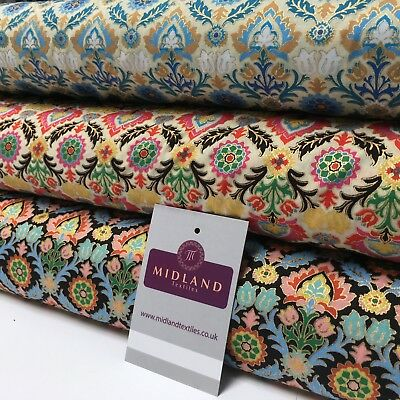 """Per Metre-Midtex M120 100/% Cotton Printed Fabric 58/"""" Wide Floral Small"""