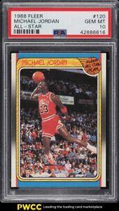 1988 Fleer Basketball Michael Jordan ALL-STAR #120 PSA 10 GEM MINT