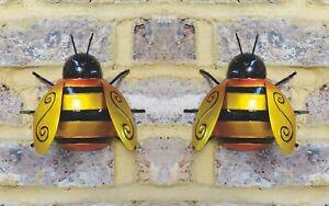 2x Large Metal Bumble Bee Summer Garden Decoration ...