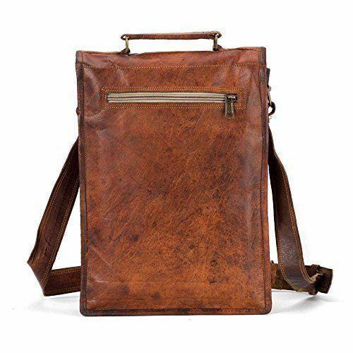 Men/'s Leather Messenger Bag Cross Body Shoulder Long Bag Rustic Retro Handmade
