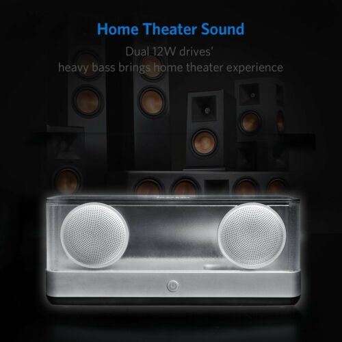 Inateck Transparent Wireless Bluetooth Speaker Stereo Airflow Technology AUX