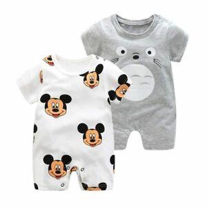 Short-Sleeved-Girls-Boys-Dress-Baby-Romper-Cotton-Newborn-Body-Suit-Pajama-Anime