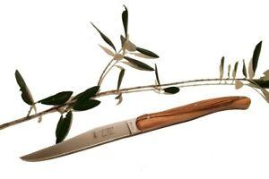 Couteau de table manche en bois d/'olivier 7008