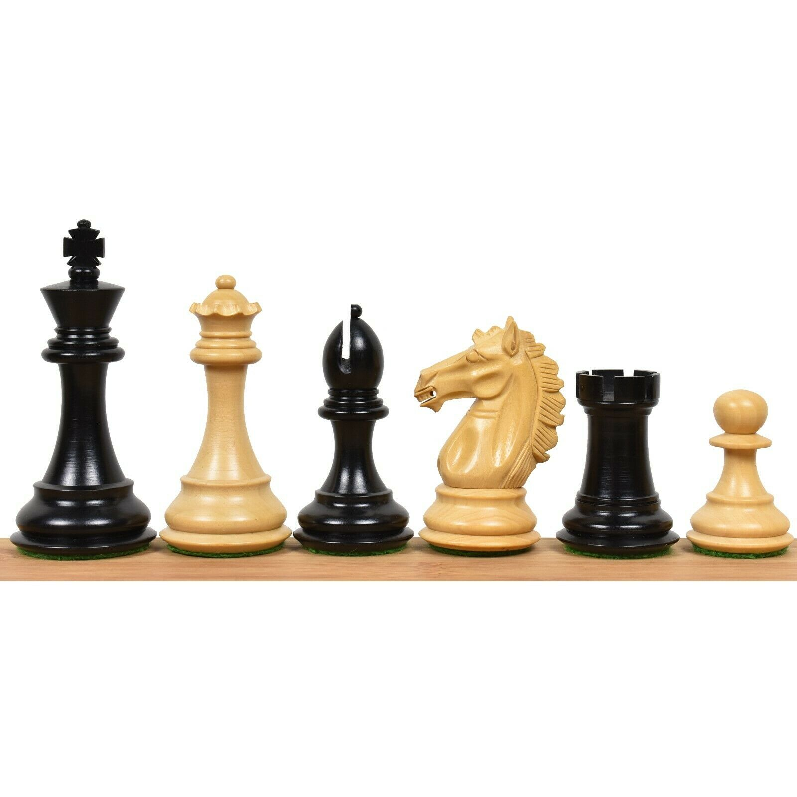 3.9  Exclusive Alban Staunton Chess Only Pieces set - Triple Weighted Ebony Wood