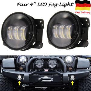 Paar-4-039-039-Zoll-30W-LED-Nebelscheinwerfer-Frontscheinwerfer-fuer-Jeep-Wrangler