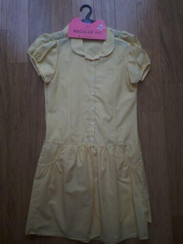 12-13 Years RRP £16 Girls M/&S 2 Yellow School Dresses BNWT