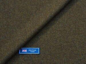 100 Wool Tweed Fabric Mixture Brown Donegal Tweed Made In