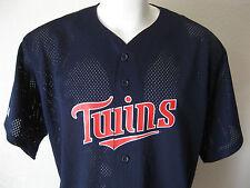 Minnesota Twins Baseball Jersey XL Team MLB X-Large Majestic Mens Navy Blue Mesh