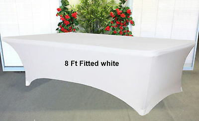 Swell 8 Feet Stretch Spandex Tablecloth Table Cover Wedding Trade Show Rectangular Ebay Alphanode Cool Chair Designs And Ideas Alphanodeonline