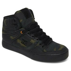DC-SHOES-PURE-HIGH-TOP-TX-SE-SKATE-SHOE-BLACK-CAMO-RUSSET-ORANGE-Sneaker-10-5
