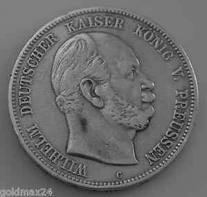 5 Mark Silbermünze Dt Kaiserreich 1876 C Wilhelm Dt Kaiser König
