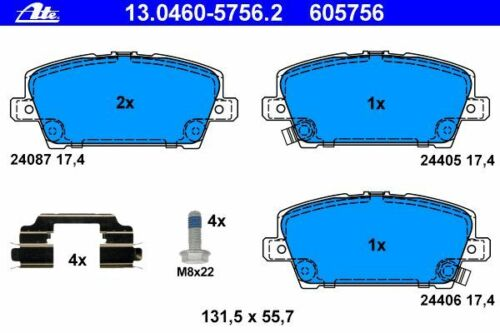 Uat Disques de frein ø282mm plaquettes de freins Avant HONDA CIVIC 8 viii FN FK