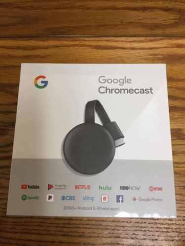 2018 Version New Google Chromecast 3rd Gen Digital HDMI Media Streaming Device