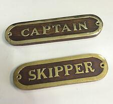 Targhe in legno e ottone marinare idea regalo arredamento navale prezzo cad1