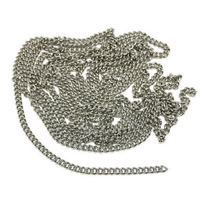 2.5mm wide 304 stainless steel hypoallergenic curb chain anti tarnish