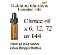 Amber Glass Bottle - Dram 4 Ml Size With Dropper - Essential Fragrance Oil Blend