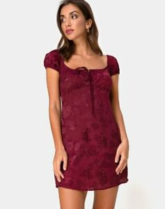 MOTEL-ROCKS-Gaval-Mini-Dress-in-Satin-Rose-Burgundy-XS-mr65