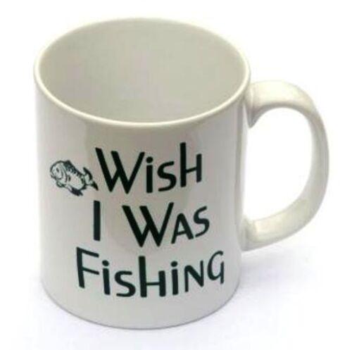 Wish I Was Fishing China Mug Ideal Fish Gift Coarse Game Cup Enthusiast