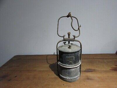 ancienne grande lampe de mineur a carbure acétylène Albert butin | eBay