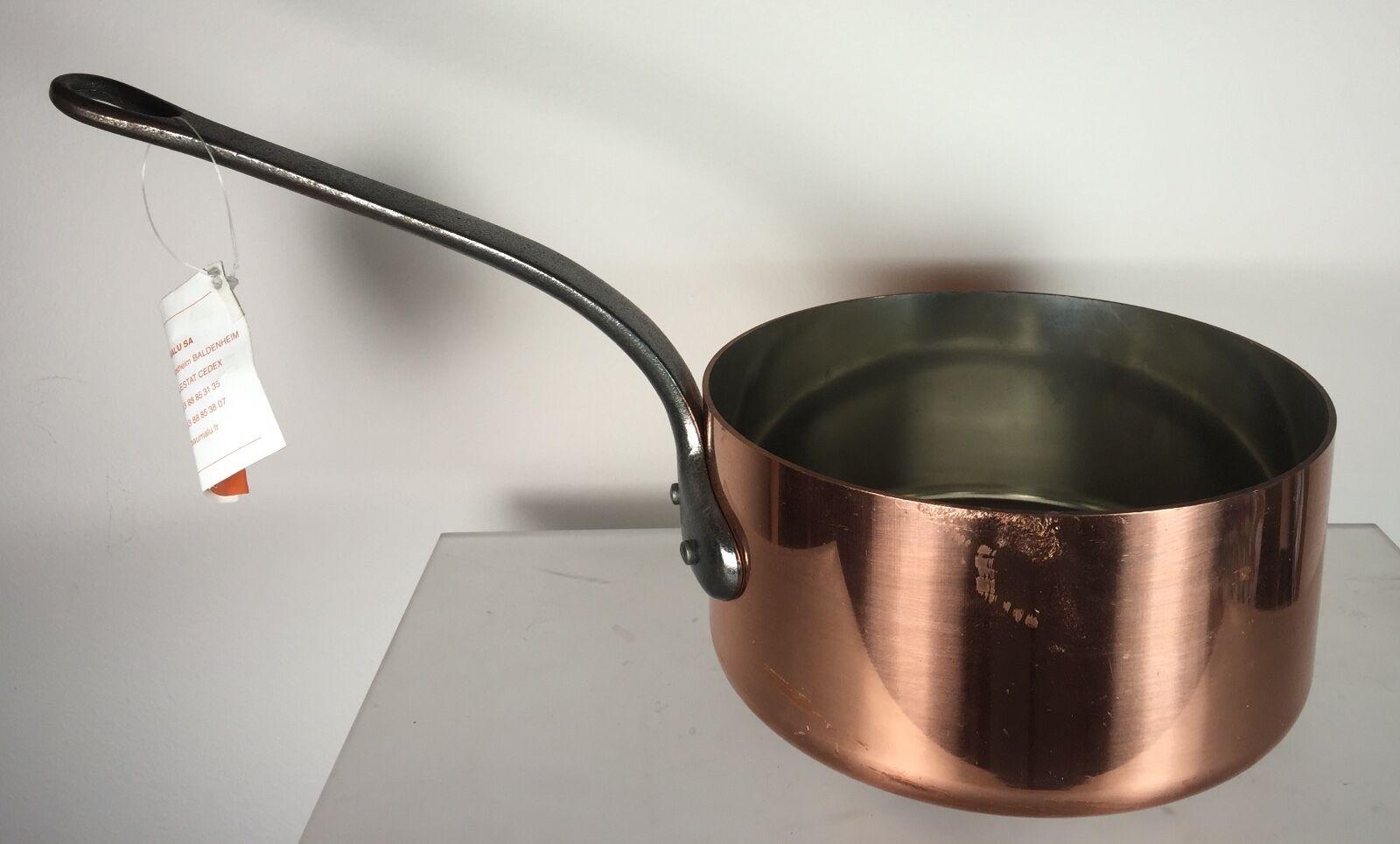 BAUMALU copper sauce pan 7  POT made in France poids 3 Lb (environ 1.36 kg) 7 oz (environ 198.44 g)