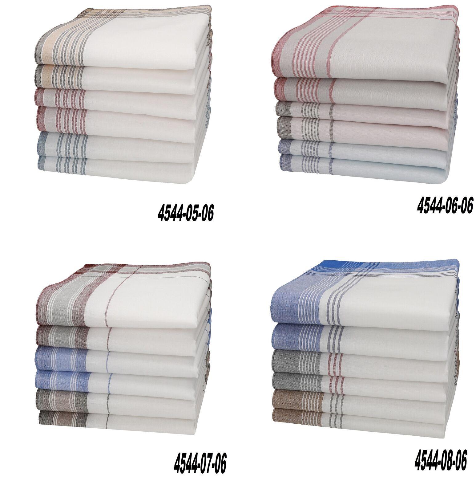 Betz 6 Stück Herren Stoff Taschentücher Set MARTIN Größe 40x40cm 100% Baumwolle
