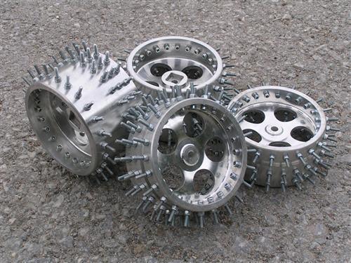 4x aluminium spitze spikes reifen felgen f  r fg marder