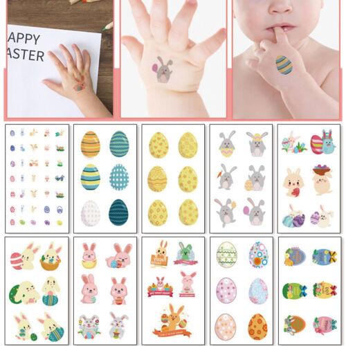 10Pcs Tatouages Enfants Enfant Pâques Festival DECOR Designs Fête Remplisseur Pâques Cadeau