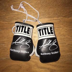 Anthony-Joshua-AJ-Autographed-Mini-Boxing-Gloves-Signed-memorabilia-Gift-RARE