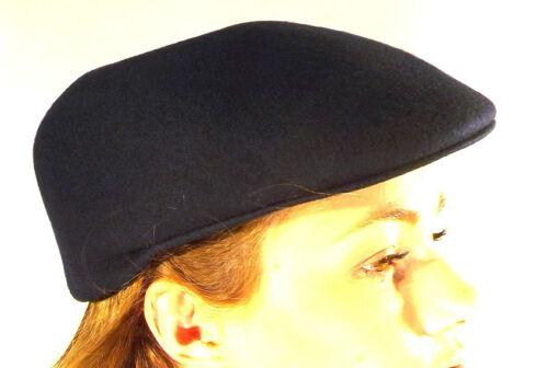 Flat Cap New  Made In England Navy Blue 100/% Wool Felt British Hat