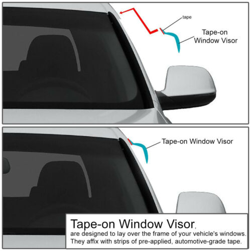 FOR 94-05 S10 ZR2//SONOMA//JIMMY SMOKE WINDOW VISOR SHADE//VENT WIND//RAIN DEFLECTOR