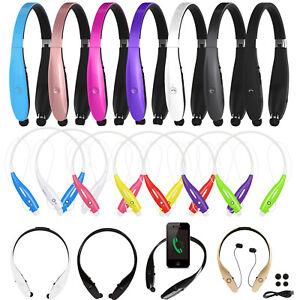 Wireless-Bluetooth-Headset-Stereo-Headphone-Neckband-Sport-Retractable-Earphone