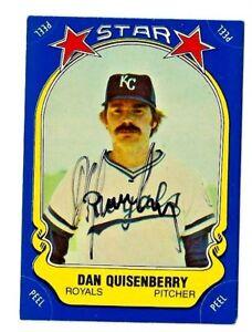 Details About 1981 Fleer Star Sticker Dan Quisenberry Signed Royals Card Key To Set Dec 1998