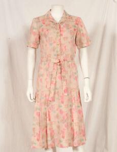 Annees-60-Francais-Vintage-Summer-Print-Dress-UK-12-14