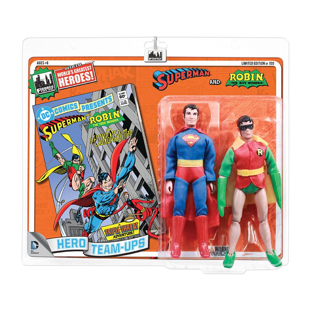 DC Comics Estilo Retro 8 Pulgadas Retro Figura de dos componentes  súperman Y Robin