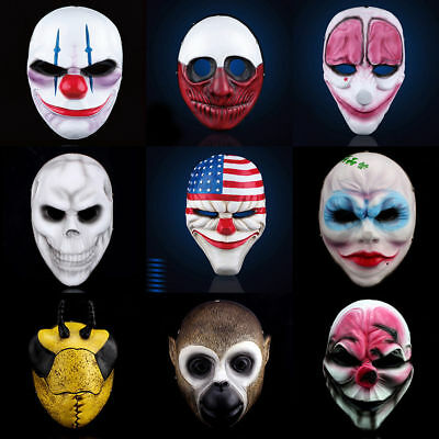 Payday 2 Mask Heist Joker Costume Cosplay Prop Gift Game Board for Dallas Gift