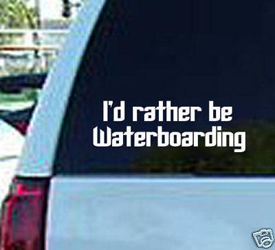 I/'d Rather be Waterboarding Vinyl Window Sticker Decal