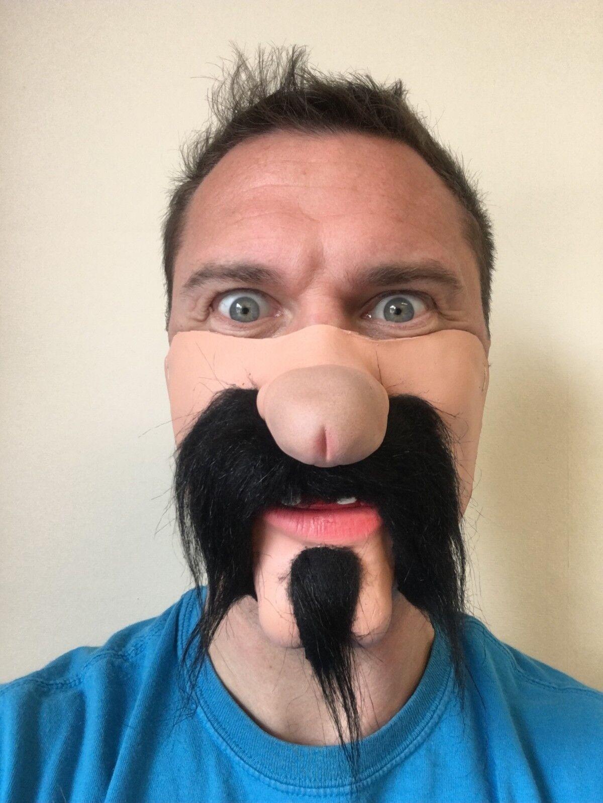 Divertente Mezzo Viso Dick Naso Maschera Messicano Gringo Baffi Neri Willy maschere Stag