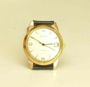 Vostok-wostok-day-USSR-Russian-wristwatch-18-jewels-2214-cal-gold-plated