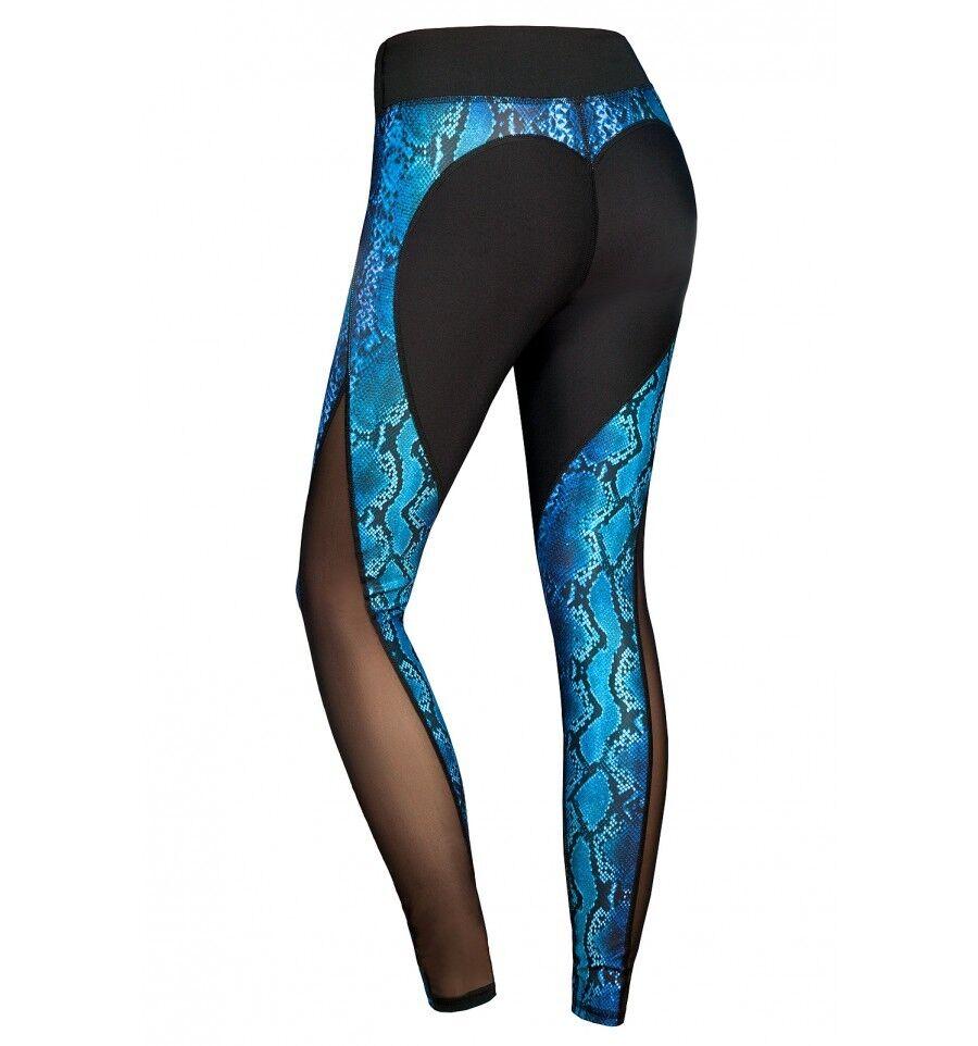 Leggings Leggings Leggings sporthose Python mit Netz bunt damenhose fitness freizeit Gr. S  | Verpackungsvielfalt  c818fd
