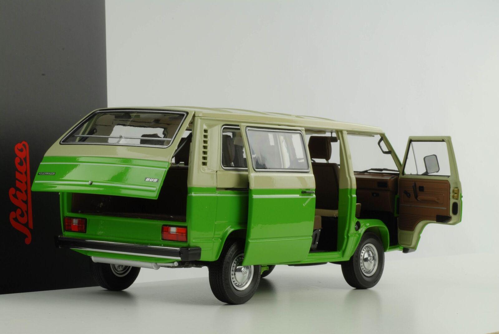 VW t3 BUS VOLKSWAGEN verde Crema 1 18 Schuco Diecast