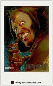 1995 Fleer Ultra Spiderman Cards Golden Web Chrome Card No1 Black Cat