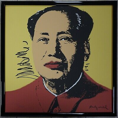 "Green Mao ANDY WARHOL Mao 37.25/"" x 26.25/"" Poster Pop Art Blue China,"