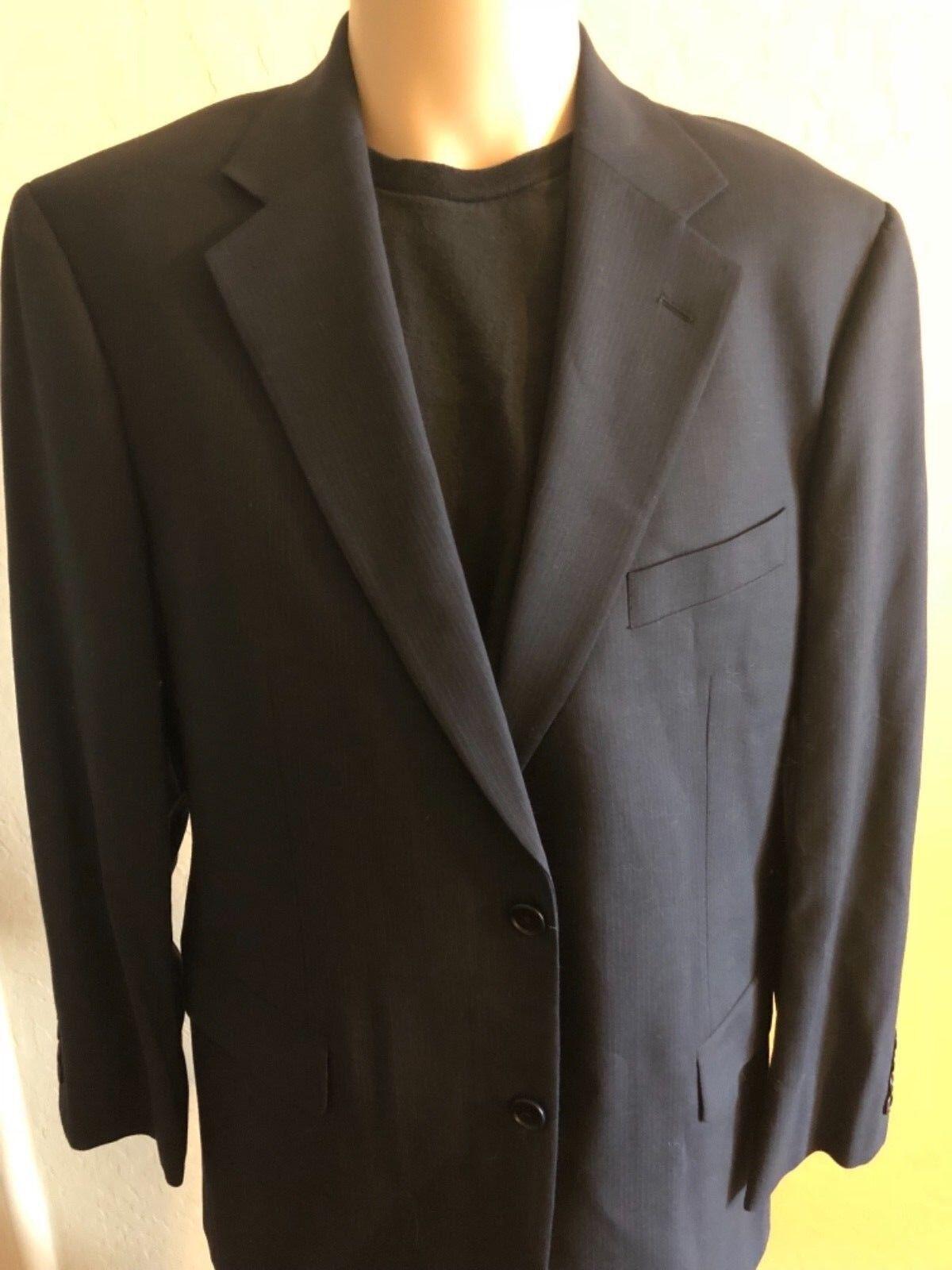Brooks Brothers 346 Stretch Sports Coat Wool Blau Pinstriped 42R
