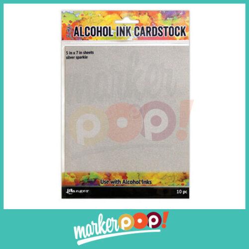 "Collection 10 pk Ranger Tim Holtz Alcohol Ink Cardstock 5/"" x 7/"""