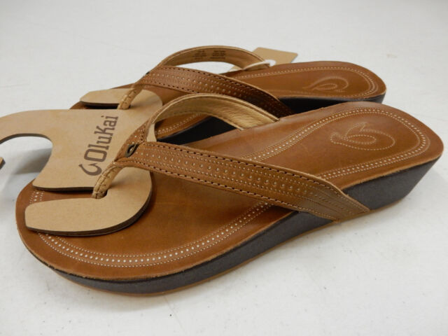 433789c388a934 OluKai Women s Ola Flip Flop 10 M Tan Leather