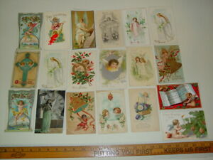 Antique-Lot-19-Postcards-Angels